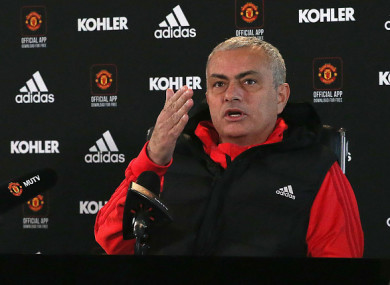 Mourinho speaking at today's pre-match press conference.