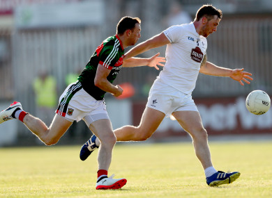 Johnny Byrne in action for Kildare against Mayo last June.GAA