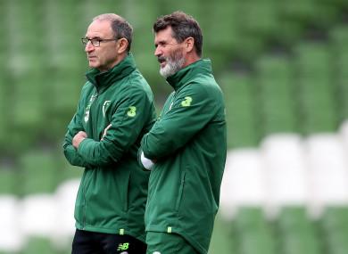 Martin O'Neill, left, and Roy Keane.