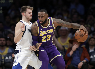 LeBron James in action for Los Angeles Lakers.