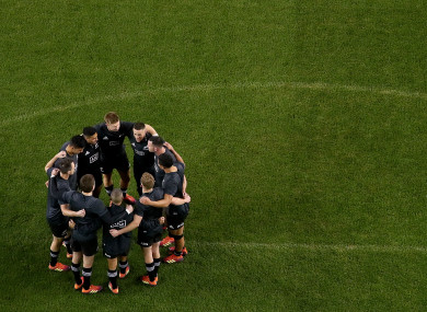 New Zealand: the All Blacks are at the end of a long season.