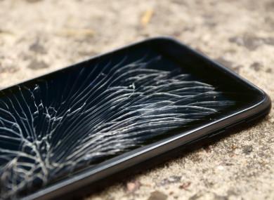 File photo of a broken smartphone