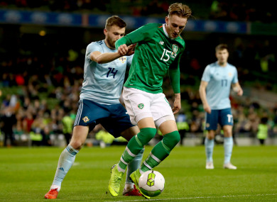Ronan Curtis made his international debut for the Republic of Ireland on Thursday night.
