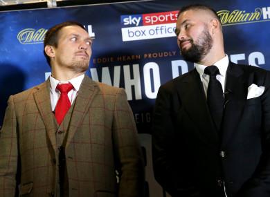 Bellew faces undisputed cruiserweight champion Oleksandr Usyk on Saturday night.