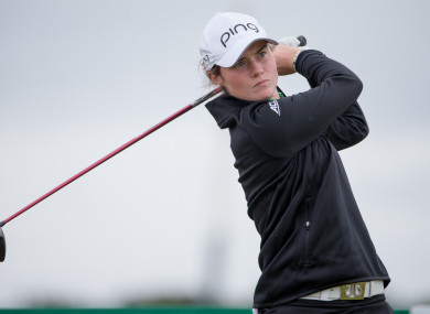 Leona Maguire is in a tie for sixth place.