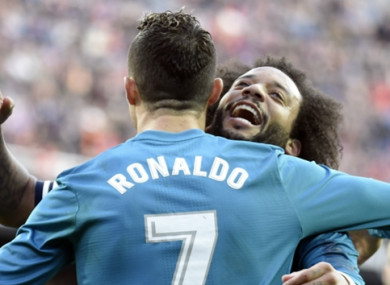 Ronaldo and Marcelo (file pic).