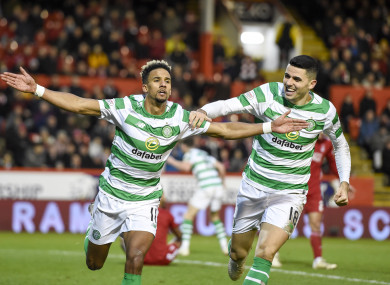 Sinclair was the match-winner for Celtic.