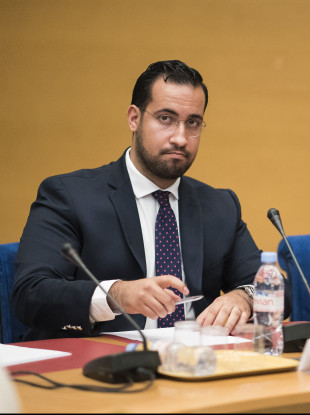 Alexandre Benalla appears before a Senate committee in Paris, France, on 19 September.
