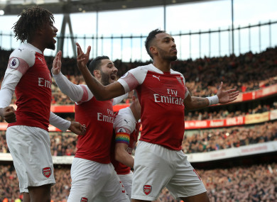 Pierre-Emerick Aubameyang starred in Arsenal's come-from-behind win