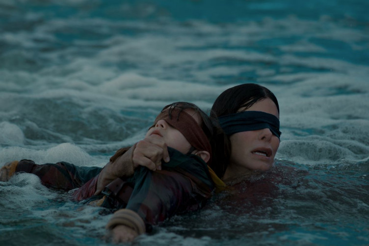 Sandra Bullock said screaming at the kids in Bird Box all day was