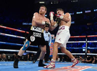 Gennady Golovkin and Saul Alvarez fought in September.