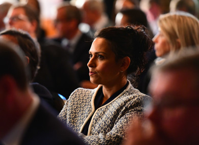 Priti Patel MP attending the launch of the Institute of Economic Affairs Brexit research paper.