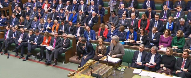 Prime Minister Theresa May makes a statement in the House of Commons.