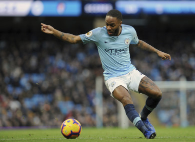 Raheem Sterling (file pic).