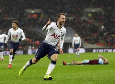 Eriksen scored his second goal in as many games for Tottenham this afternoon.