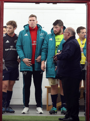 Chris Farrell in the Munster tunnel on Sunday.