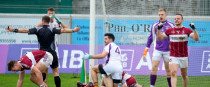 David Gough awards the crucial late penalty in yesterday's Leinster club final.