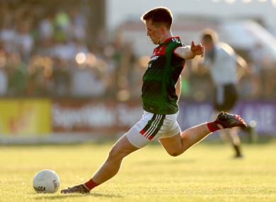 Cillian O'Connor in action for Mayo in Newbridge in June.