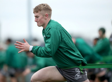 Conor Fitzgerald during training at the Sportsground this week.