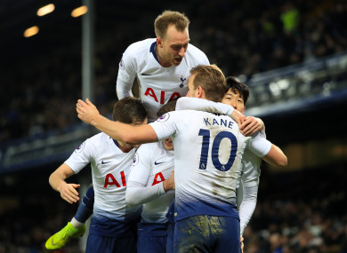 It was an easy evening on Merseyside for Spurs on Sunday.