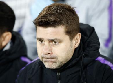 Tottenham Hotspur manager Mauricio Pochettino prior to the match at Goodison Park today.