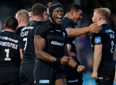 Itoje in action for Saracens last weekend.