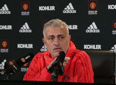 Mourinho refused to provide a team news update.