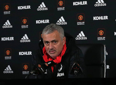 Mourinho speaking at his press conference earlier.