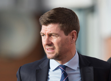 Gerrard's Rangers missed the chance to draw level with Celtic.