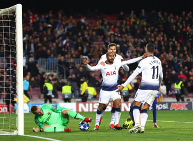 Lucas Moura was the hero for Spurs.