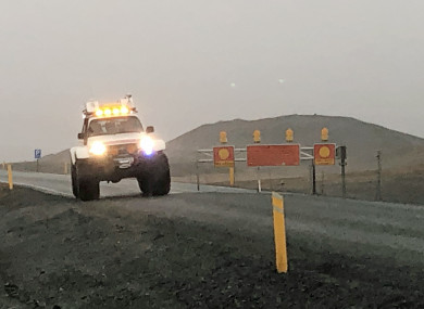 File photo of an Icelandic police vehicle in the area where the crash occurred.