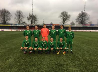 Ireland's starting line-up.
