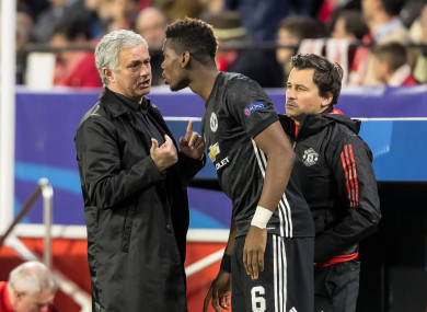 Mourinho and Paul Pogba have not always seen eye to eye during their time together at Man United.