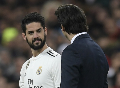 Isco has struggled for game time at Real Madrid this season.