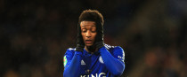 Leicester City's Demarai Gray reacts.