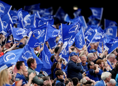 Leinster supporters were not allowed bring their flags to the Rec.