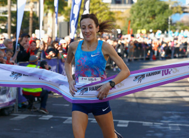Diver pictured in Sydney after winning the Women's 10km race during the Love Your Sister Run in July.