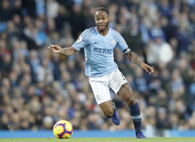 Manchester City forward Raheem Sterling.