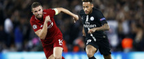 Jordan Henderson and Neymar in Champions League action