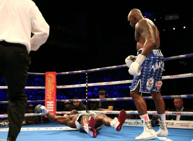 The knockout moment.