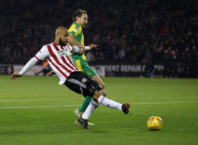 David McGoldrick scores his side's only goal of the game this evening.