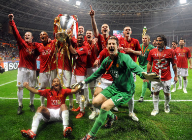 Manchester United's 2008 Champions League winning side.