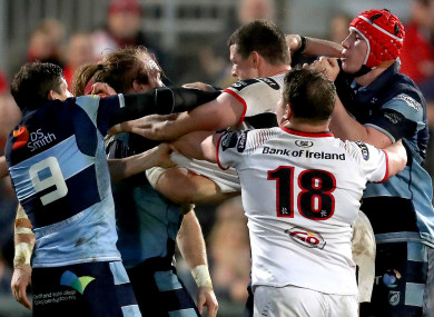Tempers flared in a spiky second half.