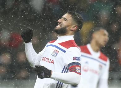 Lyon captain Nabil Fekir.