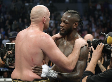 Fury and Wilder: both remain undefeated.