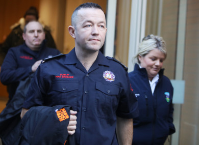Dublin Fire Brigade firefighter and advanced paramedic Ray Martin who was among the first emergency workers on the scene.