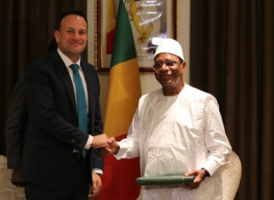 Taoiseach Leo Varadkar meeting with the Malian President Ibrahim Boubacar Keïta earlier this week.