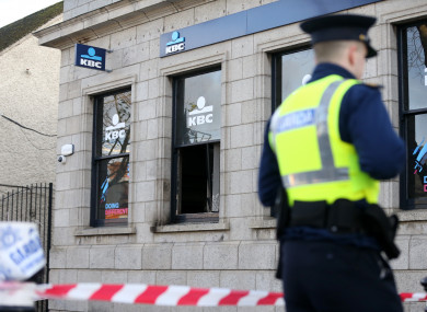 The crime scene in Swords following a suspected arson attack in December.