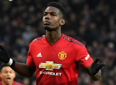 Paul Pogba was on target against Brighton on Saturday.