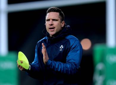 Ireland manager Adam Griggs.